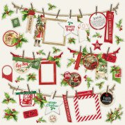 Cardstock Stickers Simple Stories - Simple Vintage Christmas - Banner