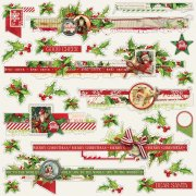 Cardstock Stickers Simple Stories - Simple Vintage Christmas - Borders