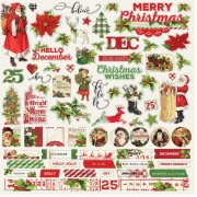 Cardstock Stickers Simple Stories - Simple Vintage Christmas - Combo