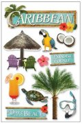 3D Stickers - Caribbean - Paper House