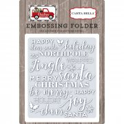 Embossing Folder Carta Bella - Holiday Phrases