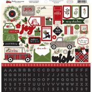 Stickers 12x12 - Carta Bella - Christmas Delivery