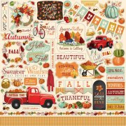 Cardstock Stickers 12x12 Carta Bella - Fall Break