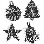 "Tim Holtz Cling Stamps 7""X8.5"" - Carved Christmas #2"