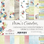 "Paper Pad 6""x 6""  Craft Clock - Mom´s Garden"