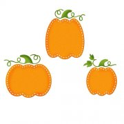 Die CottageCutz - Stitched Pumpkins