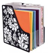 Projections Paper Holder - Black White Paper Storage
