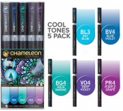 5-pack Cool Tones Set - Chameleon Pen Marker