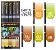 Chameleon Pen Marker Set - Earth Tones - 5 st