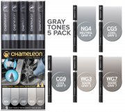 5-pack Gray Tones Set - Chameleon Pen Marker