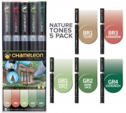 Chameleon Pen Marker Set - Nature Tones - 5 st