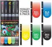 5-pack Primary Tones Set - Chameleon Pen Marker