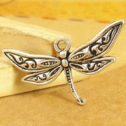 Charms 3 st - Flying Dragonfly 32mm