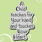 Cling Rubber Stamp - Child Reaches - Stampendous