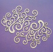 Chipboard Die Cuts - XL Swirl