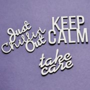 Chipboard Die Cuts - Keep Calm