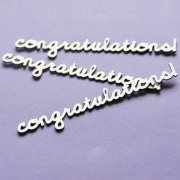 Chipboard Die Cuts - Congratulations