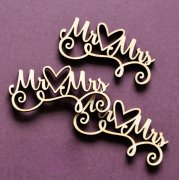 Chipboard Die Cuts - Mr & Mrs