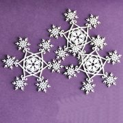 Chipboard Die Cuts - Snowflakes - 3 st