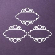 Chipboard Die Cuts - Vintage Chic Frames - 3 st