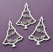 Chipboard Die Cuts - Julgranar