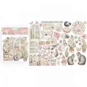 Chipboard Die Cuts Stamperia - Orchids and Cats