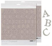 "Chipboard Alfabet 12"" Kaisercraft - Uppercase Alpha 2 ark"