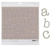 "Chipboard Alfabet 12"" Kaisercraft - Lowercase Alpha"