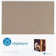 "Silhouette Tunn Chipboard 12""X12"" 25-pack"