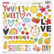 Chipboard Stickers Bella Blvd - Squeeze The Day