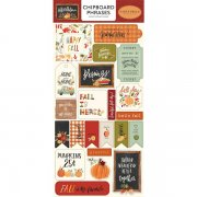 Chipboard Stickers Carta Bella - Hello Autumn - Phrases
