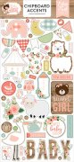 Chipboard Stickers Echo Park - Baby Girl