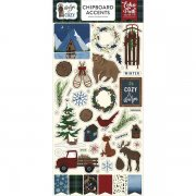 Chipboard Stickers Echo Park - Warm & Cozy - Accents