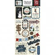 Chipboard Stickers Echo Park - Warm & Cozy - Phrases