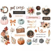 Chipboard Stickers Prima Marketing - Pumpkin and Spice - 33 st