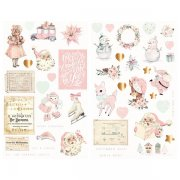 Chipboard Stickers Prima Marketing - Sugar Cookie - 46 st