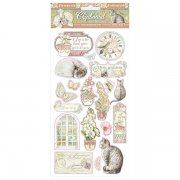 Chipboard Stickers Stamperia - Orchids and Cats - 15x30 cm