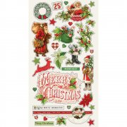 Chipboard Stickers - Simple Stories - Simple Vintage Christmas