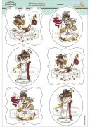 Elisabeth Bell Stamps Topper Sheet A4 - Christmas Angels