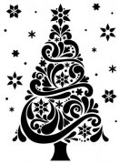 Embossing Folder - Christmas Tree 118