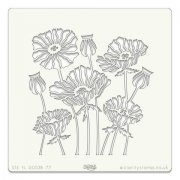 "Schablon - Claritystamp - Art Stencil 7""x7"" - Poppies"