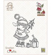 Clear Stamp Nellie Snellen Little Lammy - Happy With Presents