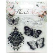 Clearstamps Dovecraft - Floral Muse - Butterfly