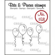 Clear Stamps Crealies - Bits & Pieces - Balloons Outline