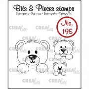Clear Stamps Crealies - Bits & Pieces - Bears