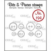 Clear Stamps Crealies - Bits & Pieces - Buttons