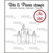 Clear Stamps Crealies - Bits & Pieces - Candles Outline