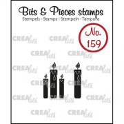 Clear Stamps Crealies - Bits & Pieces - Candles