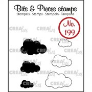Clear Stamps Crealies - Bits & Pieces - Clouds