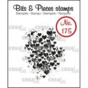 Clear Stamps Crealies - Bits & Pieces - Grunge Hearts